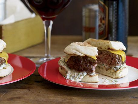 """<strong>Get the <a href=""""https://www.huffpost.com/entry/beef-and-lamb-burgers-wit_n_1058227"""">Beef-and-Lamb Burgers with Chedd"""