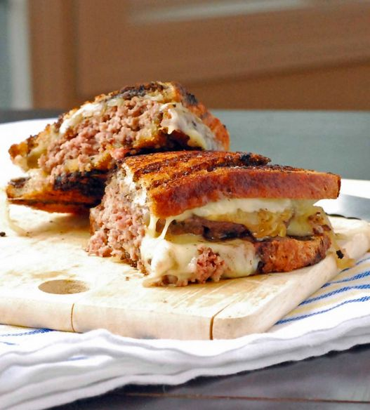 """<strong>Get the <a href=""""http://www.blissfullydelicious.com/2012/04/patty-melt/"""">Patty Melt recipe from Blissfully Delicious<"""