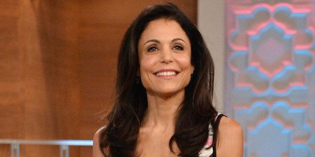 NEW YORK, NY - SEPTEMBER 03:  Talk show host/media personality Bethenny Frankel (C) speaks to her audience during her premier