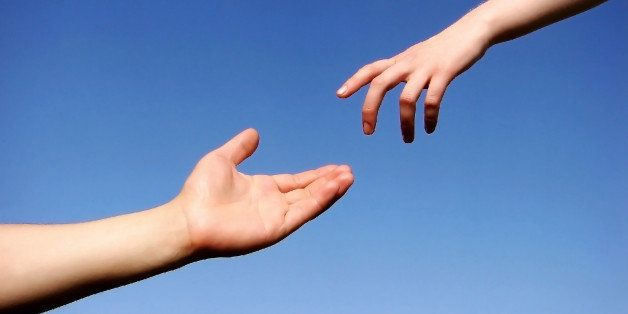 helping hand with the sky...