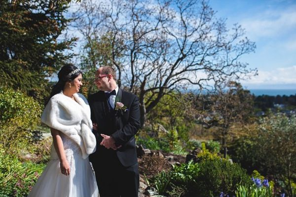 """""""Congrats to Ashley and Travis who got married at Abigail's Hotel in Victoria, British Columbia."""" - Lara Eichhorn"""