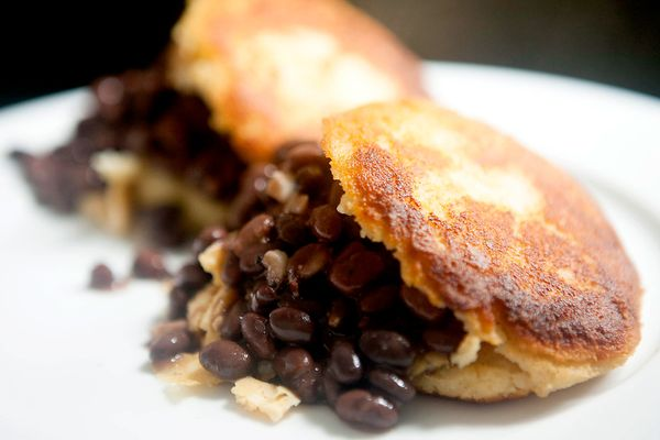 "<strong>Get the <a href=""http://food52.com/recipes/15047-black-bean-and-chili-scrambled-egg-arepas"" target=""_blank"">Black Bea"