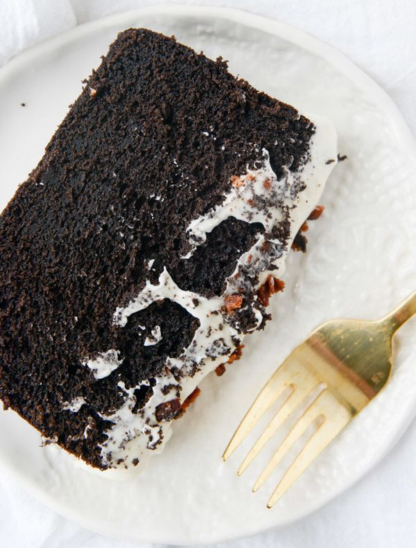 """<strong>Get the <a href=""""http://www.howsweeteats.com/2015/02/chocolate-poundcake-with-bacon-bourbon-frosting/"""" target=""""_blank"""