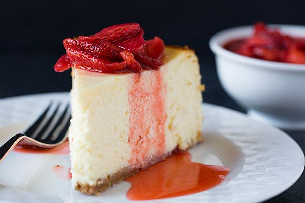 """<strong>Get the <a href=""""http://www.browneyedbaker.com/2013/04/22/new-york-style-cheesecake-recipe/"""" target=""""_blank"""">New York"""