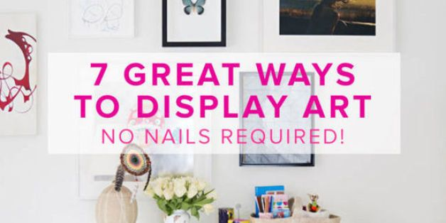 7 Great Ways To Display Art No Nails Required