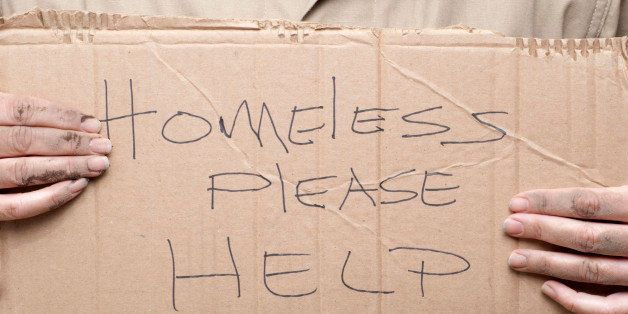 homeless person asking for help