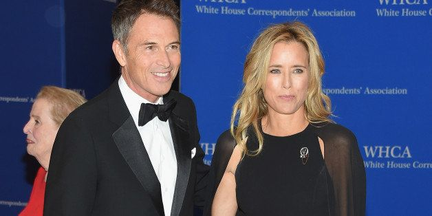 WASHINGTON, DC - APRIL 25:  Tim Daly and Tea Leoni attend the 101st Annual White House Correspondents' Association Dinner at the Washington Hilton on April 25, 2015 in Washington, DC.  (Photo by Michael Loccisano/Getty Images)
