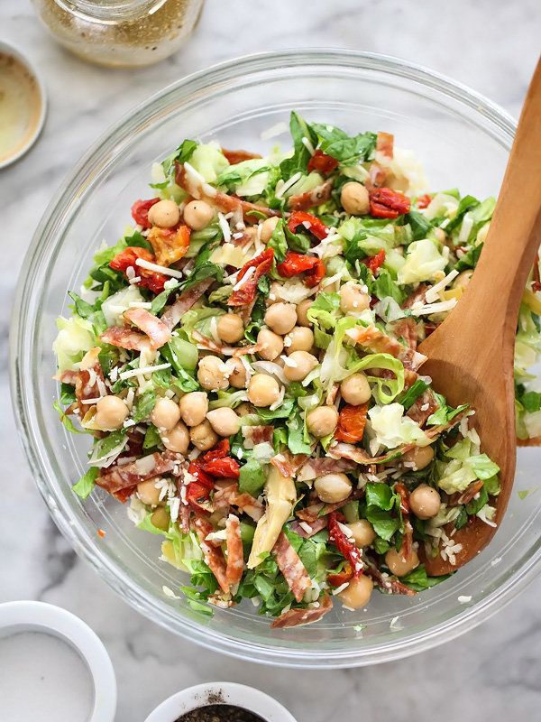 """<strong>Get the<a href=""""http://www.foodiecrush.com/2014/12/italian-chopped-salad-with-marinated-chickpeas/"""" target=""""_blank"""">"""