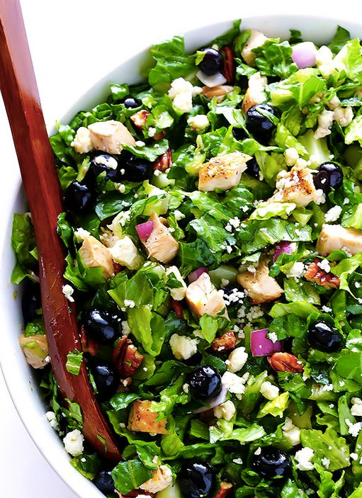 """<strong>Get the <a href=""""http://www.gimmesomeoven.com/blueberry-chicken-chopped-salad-recipe/"""" target=""""_blank"""">Blueberry Chic"""