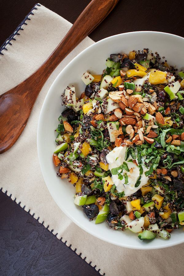 """<strong>Get the <a href=""""http://camillestyles.com/food-and-drink/from-camilles-kitchen/tuesday-tastings-black-quinoa-chopped-"""