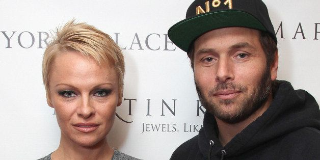 NEW YORK, NY - NOVEMBER 13:  (L-R) Pamela Anderson and Rick Salomon attend The Martin Katz Jewel Suite Debuts At The New York Palace Hotel on November 13, 2013 in New York City.  (Photo by Donald Bowers/Getty Images for The New York Palace Hotel)