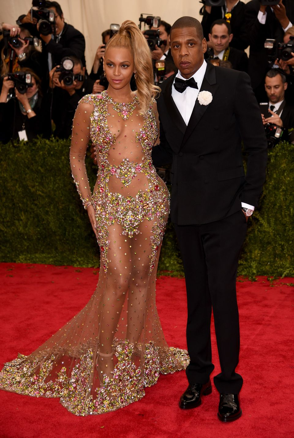 NEW YORK, NY - MAY 04:  Beyonce and Jay Z attend the 'China: Through The Looking Glass' Costume Institute Benefit Gala at the
