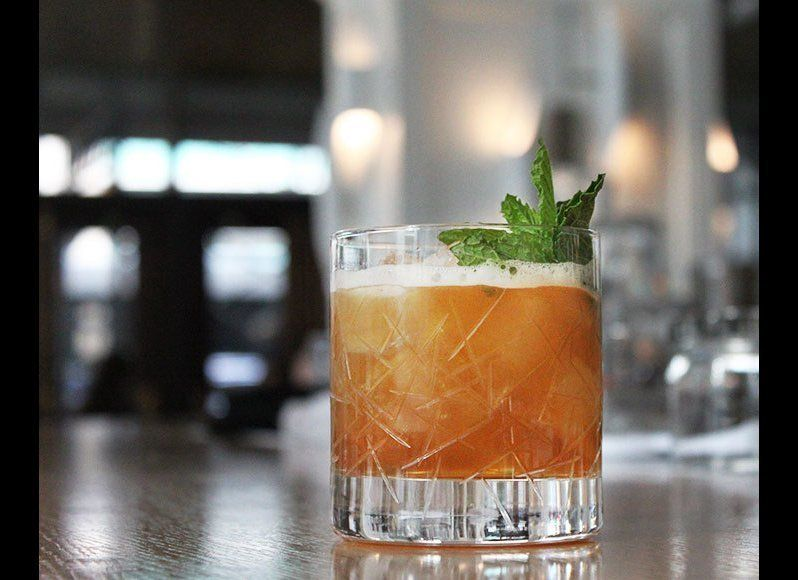 Part Julep, part Sour, this hybrid refresher finds favor in its unique combo of ingredients—bourbon, Cynar, sugar, citrus and