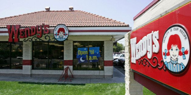 An exterior view of a Wendy's restaurant in San Jose, Calif., Thursday, July 28, 2005, where authorities say Anna Ayala and her husband Jaime Placencia allege to extort money from the fast food chain by planting a human figer in a bowl of chili in March. Wendy's International Inc.'s earnings dropped 1 percent in the second quarter but beat Wall Street's expectations for a period in which the third-largest hamburger chain's sales were hurt by false accusations that a woman found a finger in her chili. (AP Photo/Paul Sakuma)