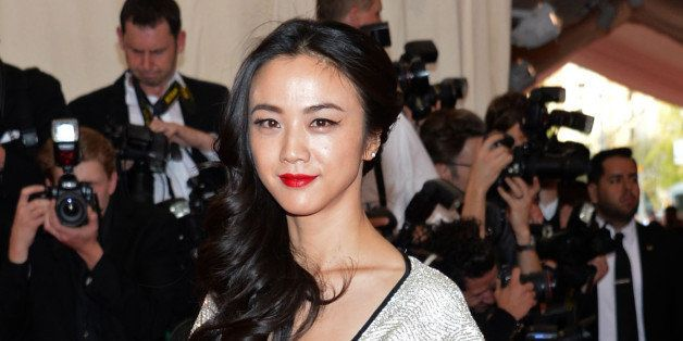 """Tang Wei arrives at The Metropolitan Museum of Art's Costume Institute benefit gala celebrating """"China: Through the Looking Glass"""" on Monday, May 4, 2015, in New York. (Photo by Evan Agostini/Invision/AP)"""