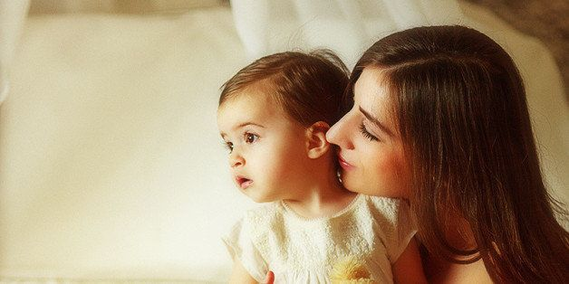 mom and her baby daughter