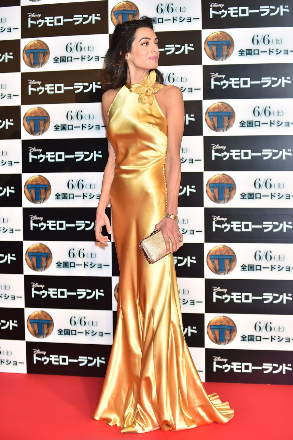TOKYO, JAPAN - MAY 25:  Lawyer Amal Clooney attends the Tokyo premiere of 'Tomorrowland' at Roppongi Hills on May 25, 2015 in