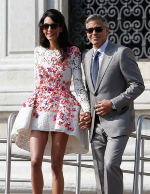 Amal Clooney's Niece Is A Designer-Clad, Mini Version Of Her Stylish