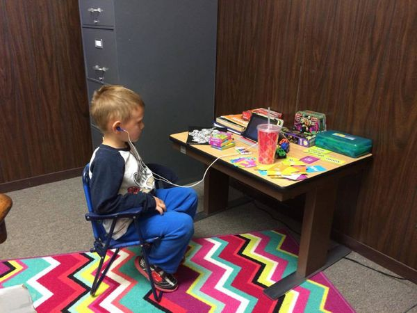 """""""My son has his own desk at the law firm I work for."""""""