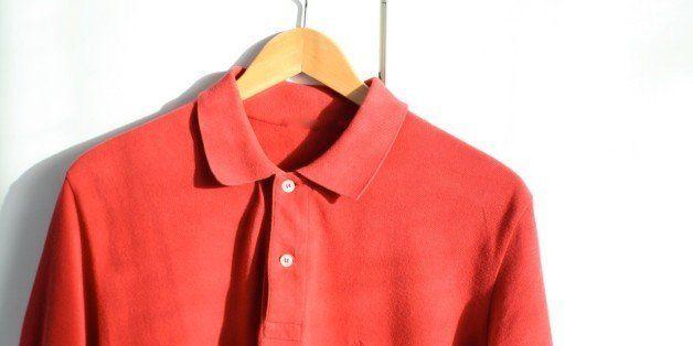 men wearing red