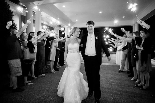 """""""Erin and James had a beautiful wedding with the ceremony at St. Francis and reception at Brier Creek Country Club in Raleigh"""
