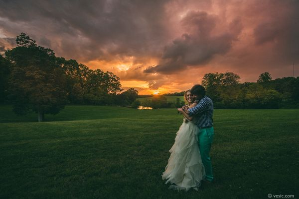 """The sun sets over Jennifer and Chad's wedding in Greensboro, North Carolina."" - Hooman Bahrani"