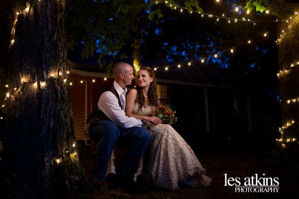"""""""Kristen and Bryan share a special moment following their rustic country wedding in Pleasant Hill, North Carolina.  - Les Atk"""