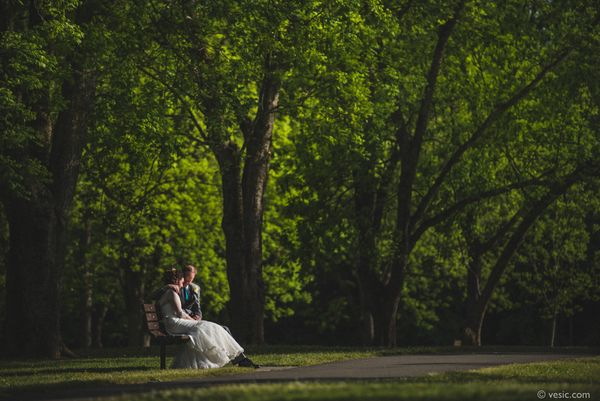 """""""Sarah and Andrew enjoy some time together before their wedding reception in Wake Forest, North Carolina."""" - Hooman Bahrani"""