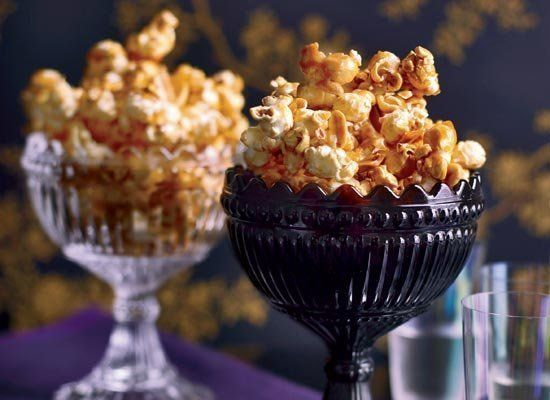 What could be better for a cocktail party than this tequila-spiked caramel corn? Tequila and agave nectar (made from the same