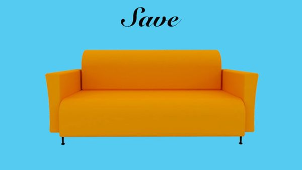 """""""If you get an orange sofa, I promise you'll be tired of it in five years,"""" says Griffin. """"That's why most sofas are neutral."""