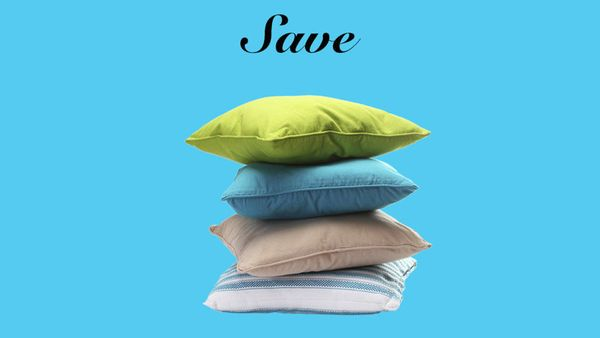 """""""You can spend $1,000 on a decorative pillow, or you can spend $30 and still make a statement,"""" says Berkus. """"It's so easy to"""
