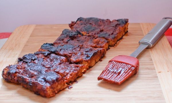 """<strong>Get the <a href=""""http://www.baked-in.com/2014/06/30/vegan-barbecue-ribs/"""" target=""""_blank"""">Vegan Barbecue 'Ribs' recip"""