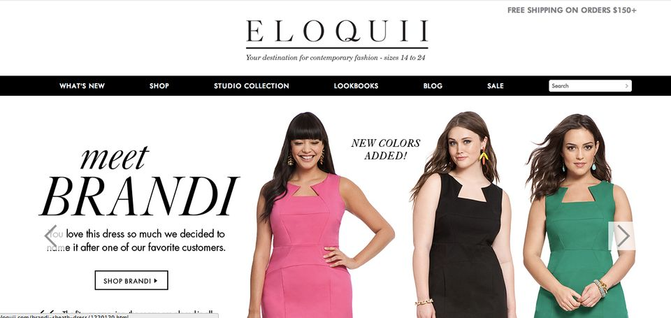 "<a href=""http://www.eloquii.com/"" target=""_blank"">Eloquii,</a>  once an offshoot of The Limited, offers genuinely trendy, wel"
