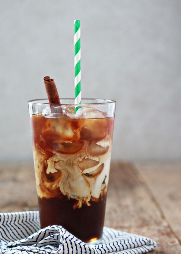 "<strong>Get the <a href=""http://www.kitchentreaty.com/cinnamon-dolce-iced-coffee/"" target=""_blank"">Cinnamon Dolce Iced Coffee"