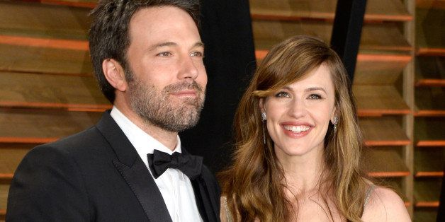WEST HOLLYWOOD, CA - MARCH 02:  Actors Ben Affleck (L) and Jennifer Garner attend the 2014 Vanity Fair Oscar Party hosted by