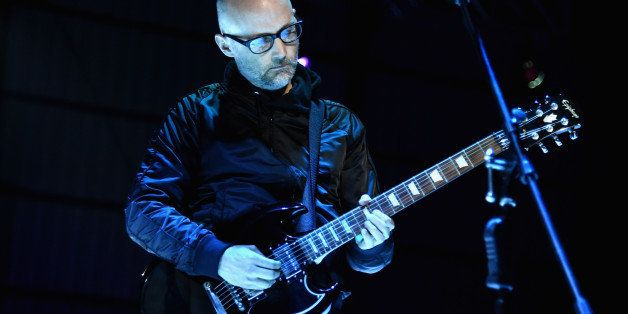 LOS ANGELES, CA - JANUARY 10:  Recording artist Moby performs onstage during the 8th Annual HEAVEN Gala presented by Art of Elysium and Samsung Galaxy at Hangar 8 on January 10, 2015 in Los Angeles, California.  (Photo by Jason Merritt/Getty Images  for Art of Elysium)