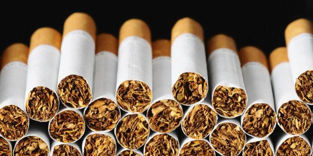 Close-up of Tobacco Cigarettes Background or texture