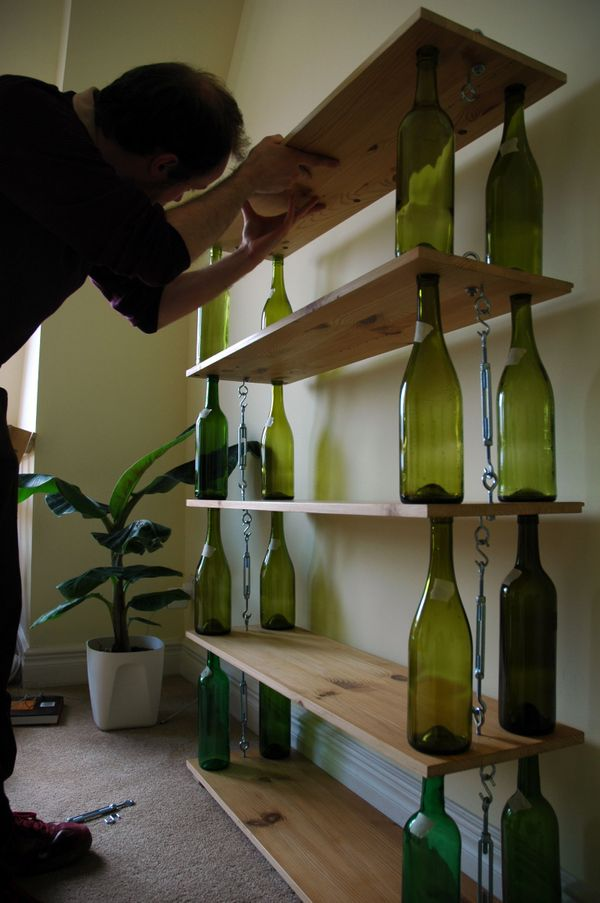 """Get the full instructions for <a href=""""https://www.flickr.com/photos/zero-waste/4851422530/"""" target=""""_blank"""">this bookshelf</"""