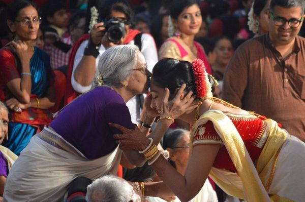 """""""A moment with my grandmother just before the wedding."""" - Shylaja Varma"""