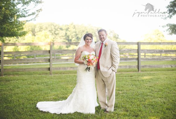 """""""Britteny and Grant were married at The Stables at Hunter Valley Farms in Knoxville, Tennessee."""" - Jyn Armstrong"""