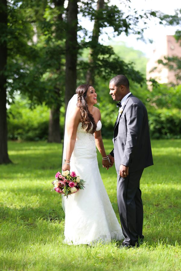 """""""Annie and Spencer got married this weekend at the Wellfield Bontaic Gardens in Elkhart, Indiana.""""  -Jesselyn Zbytowski"""