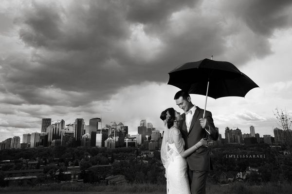 """""""A beautiful wedding yesterday in Calgary, Alberta. Despite all the rain, the day was beautiful and we were able to get some"""