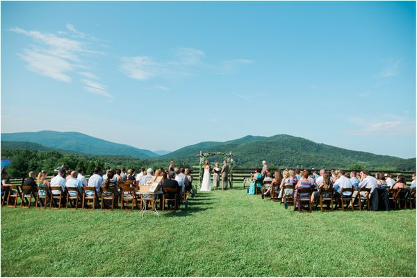 """""""Congratulations to Jess and Ryan who had the sweetest ceremony in front of the Blue Ridge Mountains in Charlottesville, Virg"""