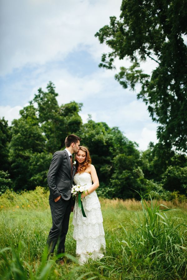 """""""Andie and Drew were married in Murfreesboro, Tennessee on June 13. It was hot and humid, but we were lucky to get some beaut"""