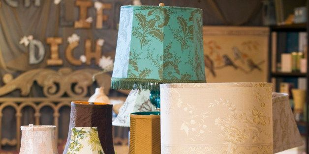 Choose a table lamp that provides the right light and reflects your personal style, like these mix-and-match lamp bases and shades at the Anthropologie store.  (Photo by John Mutrux/Kansas City Star/MCT via Getty Images)