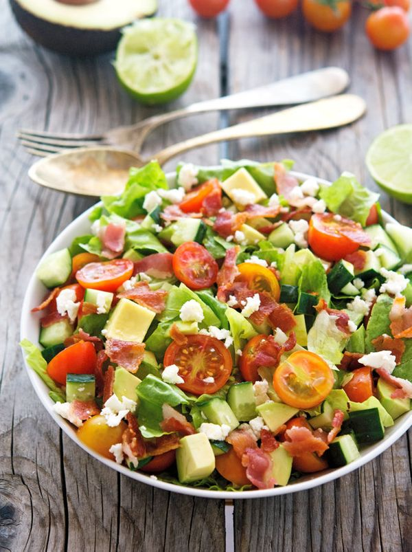 "<strong>Get the <a href=""http://www.theironyou.com/2015/06/chopped-blt-salad.html"" target=""_blank"">Chopped BLT Salad recipe</"