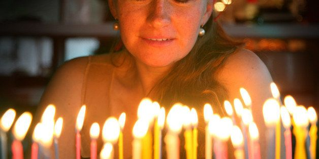 birthday wishes with cake and candles