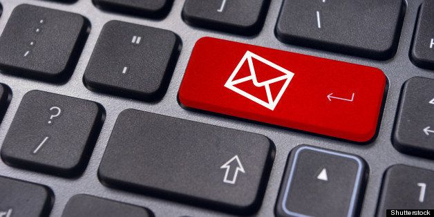 email concepts  with message on ...