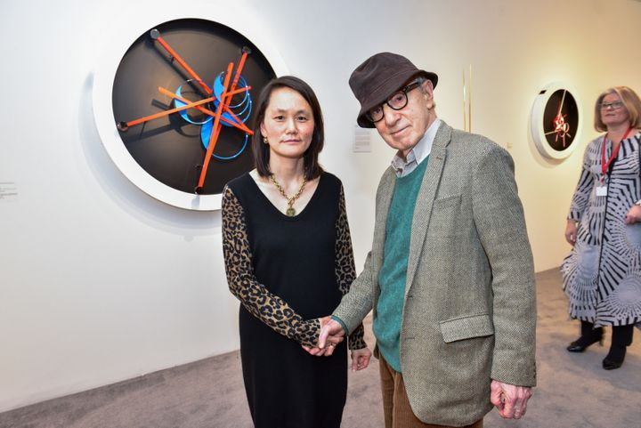 Soon-Yi Previn, seen here with filmmaker Woody Allen in February, spoke about her controversial romance with Allen in a sweep