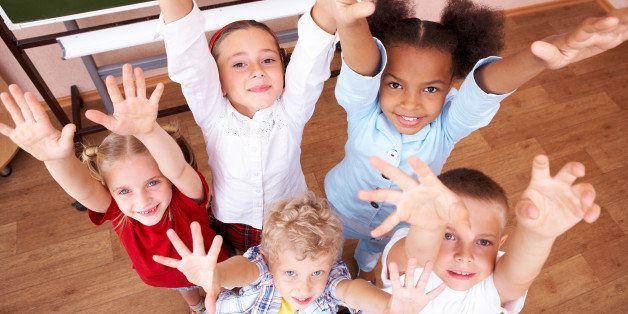 image of cute schoolchildren...